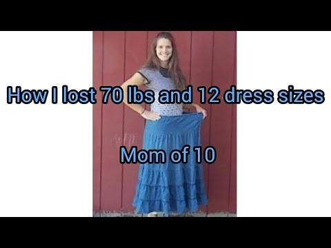How I lost 70 lbs and 12 dress sizes a Large Family Momma talk