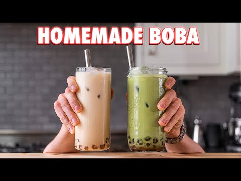 Perfect Boba Tea Completely from Scratch (2 Ways)