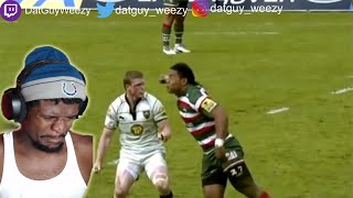 AMERICAN REACTS TO WHEN RUGBY PLAYERS LOSE CONTROL!!!