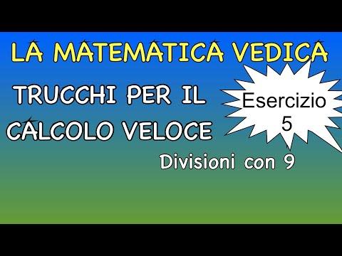 ESERCIZIO 5 Divisioni Con Il 9 ALLENA LA MENTE Al Calcolo Veloce