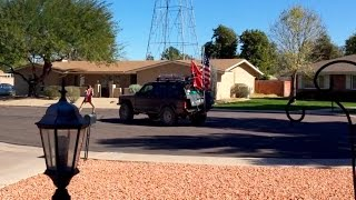 My redneck neighbors epic street battle