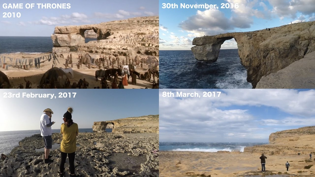 Before And After The Azure Window Collapse Youtube,White Kitchen Counter Backsplash Ideas