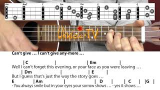 Скачать Without You Harry Nilsson Mariah Carey Witney Houston Ukulele Chords Lyrics Tutorial Lesson