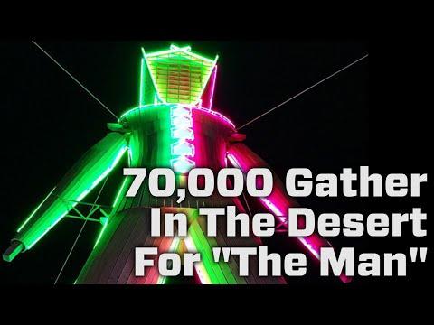 70,000 People Gather In Nevada's Black Rock Desert For Burning Man Festival