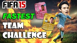 FIFA 15 Challenges - Fastest Team Ft. Pink Sturridge and Messi (Ultimate Team PS4 Gameplay)