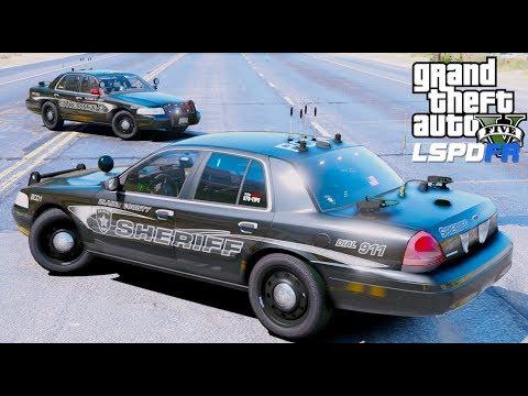 GTA 5 LSPDFR Police Mod #589 Blaine County Sheriff New Fleet- Slicktop Crown Victoria Running ALPR