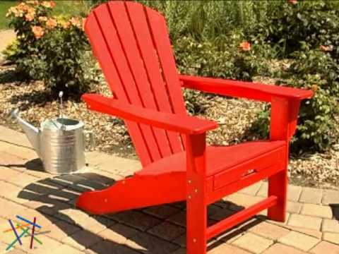 POLYWOOD® Recycled Plastic Big Daddy Adirondack Chair   Product Review Video