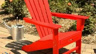 Exclusive! Polywood® Recycled Plastic Big Daddy Adirondack Chair - Product Review Video