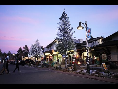 Big Bear Village Christmas.Catch The Holiday Spirit Big Bear Lake Village