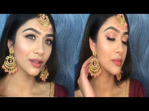INDIAN DIWALI/WEDDING MAKEUP TUTORIAL | GLAM LOOK | RAJ SHOKER thumbnail