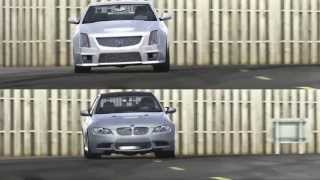 Top Gear BMW M3 vs Cadillac CTS-V