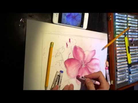 Как рисовать пастелью. Мастер класс смотреть онлайн видео