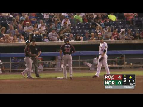 Norfolk Tides vs Rochester Red Wings -- August 23rd, 2016
