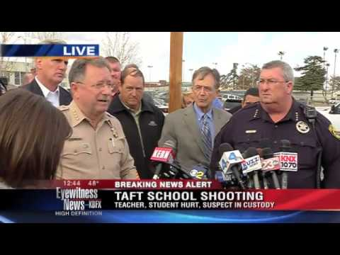 Full press conference: Taft teen wounded in school shooting; suspect arrested