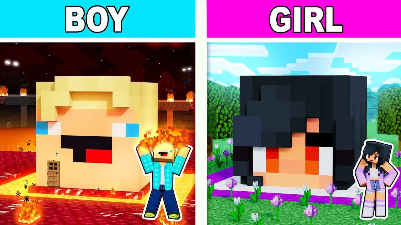 Download Boy VS Girl SECRET Minecraft Base Battle!