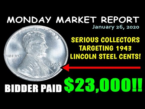 """1943 Lincoln Steel Pennies """"Waking Up"""" With $23,000 Sale! - Monday Market Report"""