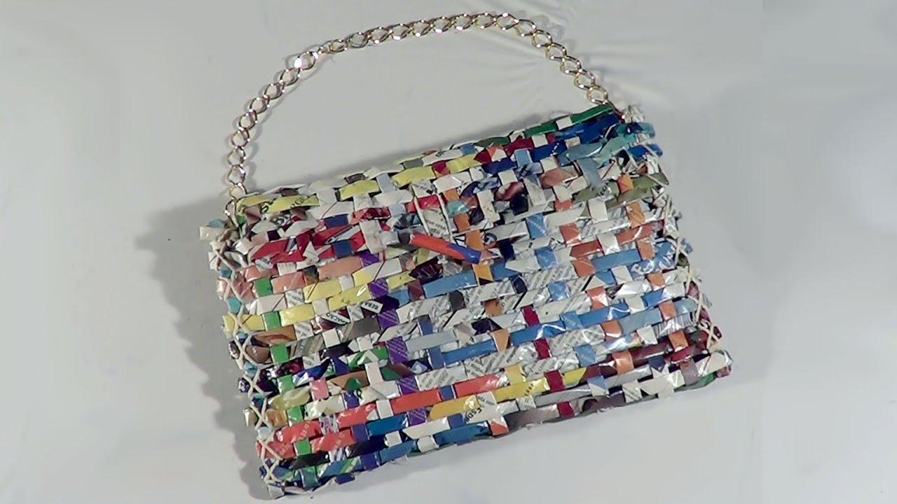 21e1dd596 DIY - Bolsa carteira de revista - Handbag Wallet Magazine - Revista Purse