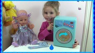 Just Like Home - elektronische Waschmaschine mit Sound ♥ Wir waschen Püppis Hose