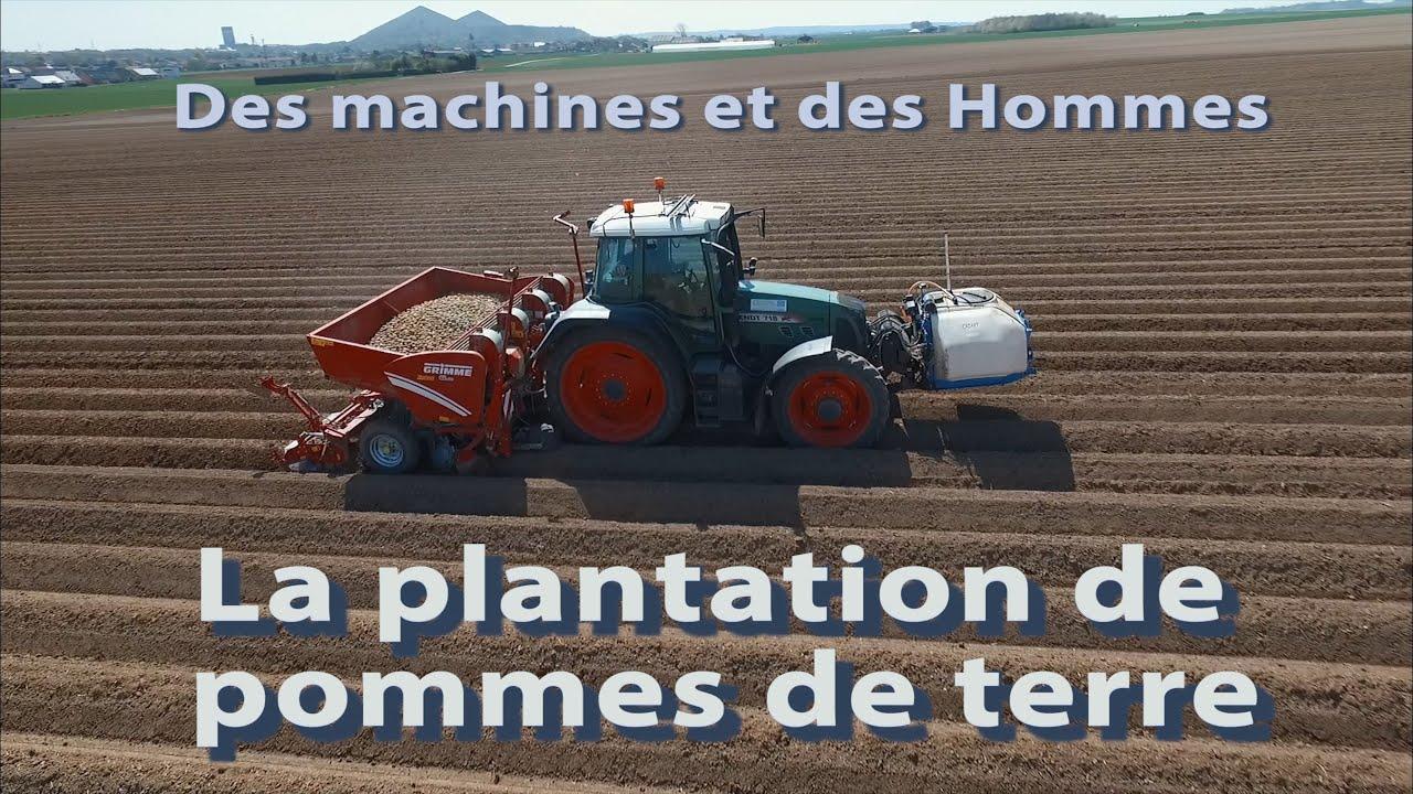 Des machines et des hommes plantation de pommes de terre - Machine pour ramasser les pommes ...