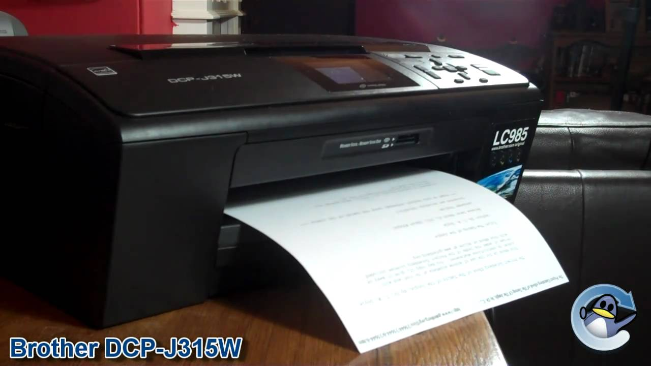brother dcp j315w printer review youtube