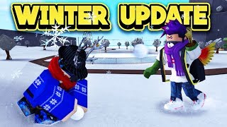 NEW WINTER UPDATE IN BLOXBURG! (ROBLOX Welcome To Bloxburg)
