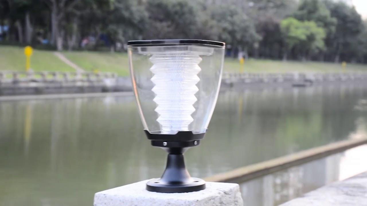 Lampioncino e lampada ad energia solare a led con pannello