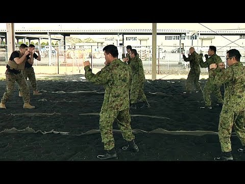 US Marines Train Martial Arts To Japanese Soldiers
