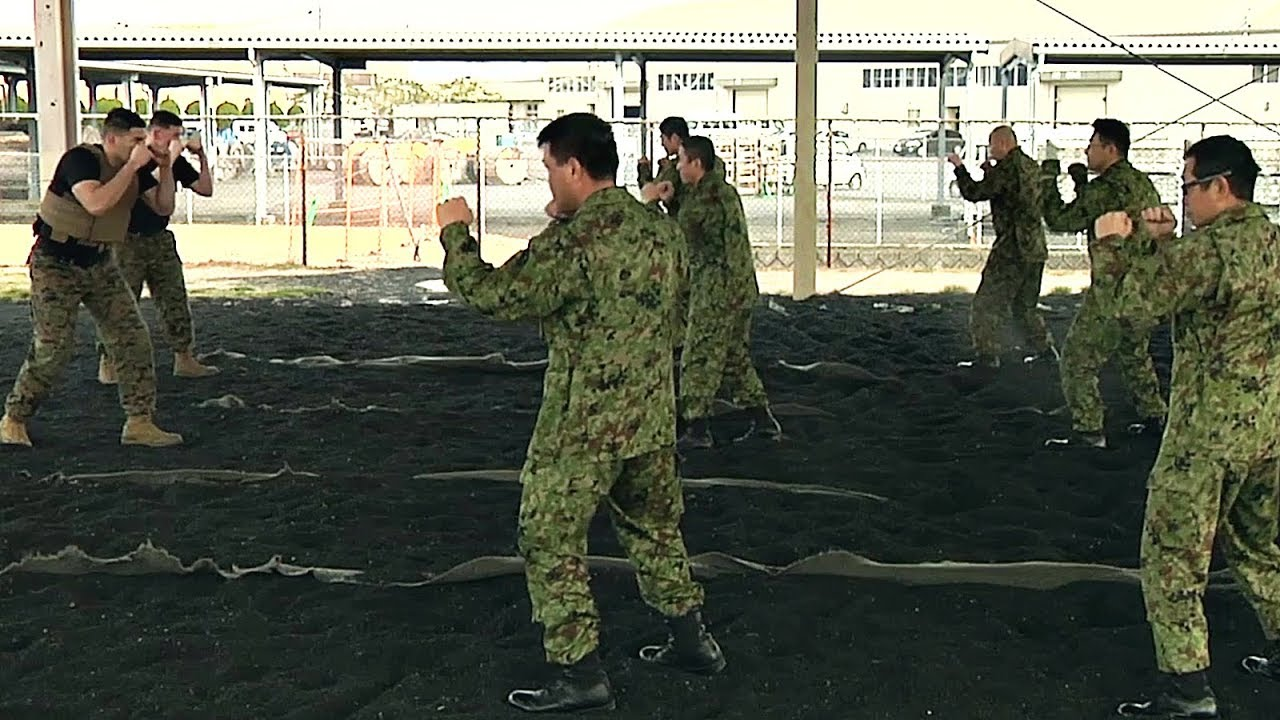 us marines train martial arts to japanese soldiers youtube