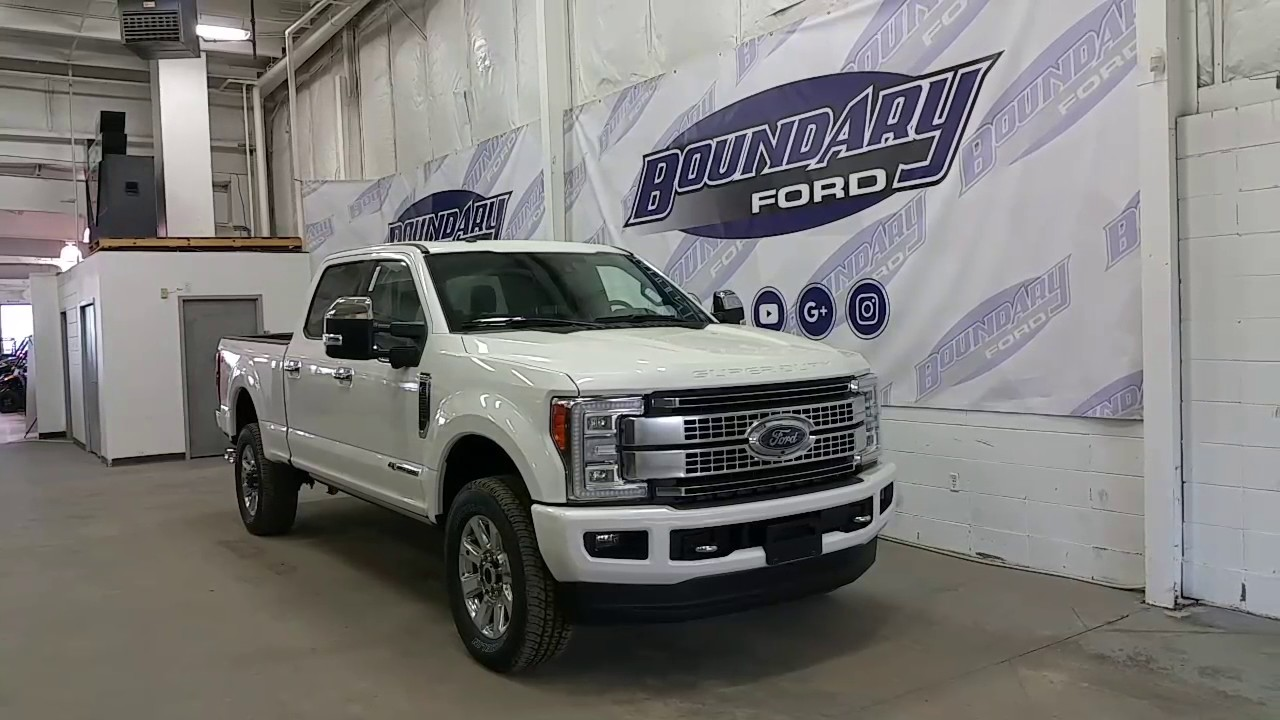 2017 Ford F 350 Platinum Super Duty W Panoramic Sunroof Tailgate Step Review Boundary