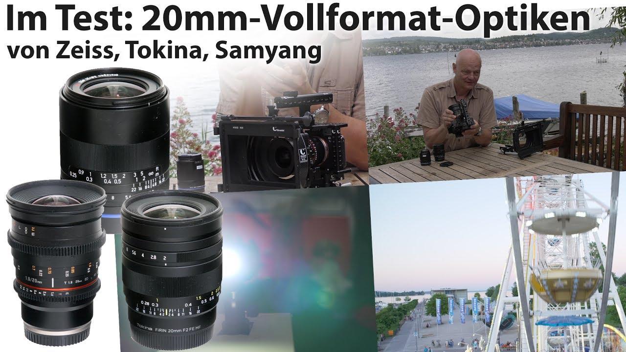 Vergleichstest: 20-Millimeter- Film- und Fotooptiken von Tokina ...