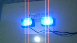 4 pcs x 3 watt Blue LUXEON Strobo