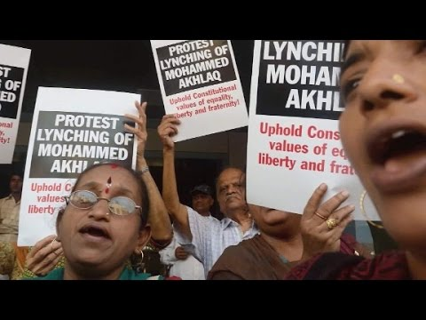 India: 15 charged for lynching a Muslim man