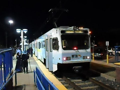 MTA Maryland: Baltimore Light Rail  -  Blue Line to Hunt Valley... FULL RIDE!