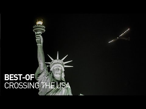 Solar Impulse - Best of First Round-the-World Solar Flight, Crossing the USA