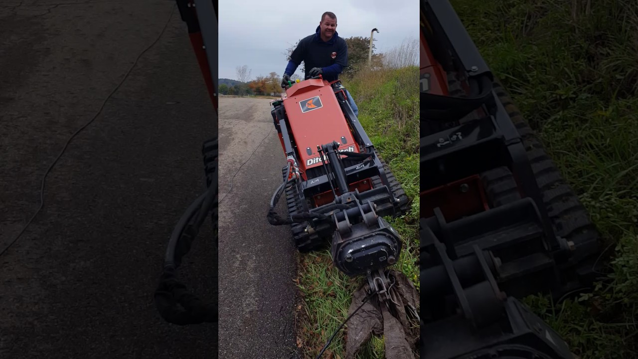 Demoing the new Ditch Witch Sk 752 with a vibratory plow attachment
