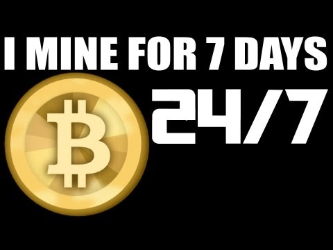 7 DAY$-24/HR$ - BITCOIN MINING EXPERIMENT - See How Much Mon