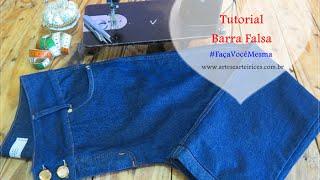 Aprenda a Fazer Barra Falsa em Calça Jeans