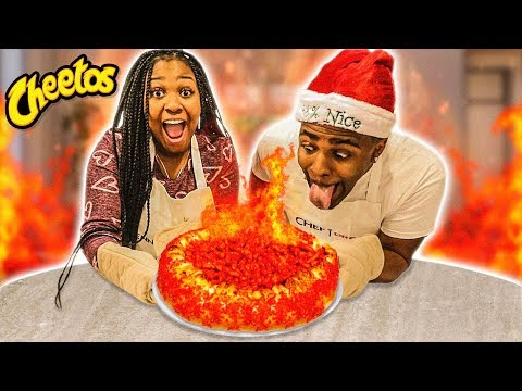HOW TO MAKE A JUMBO FLAMIN HOT CHEETOS PIZZA | COOKING WITH THE EMPIRE FAMILY