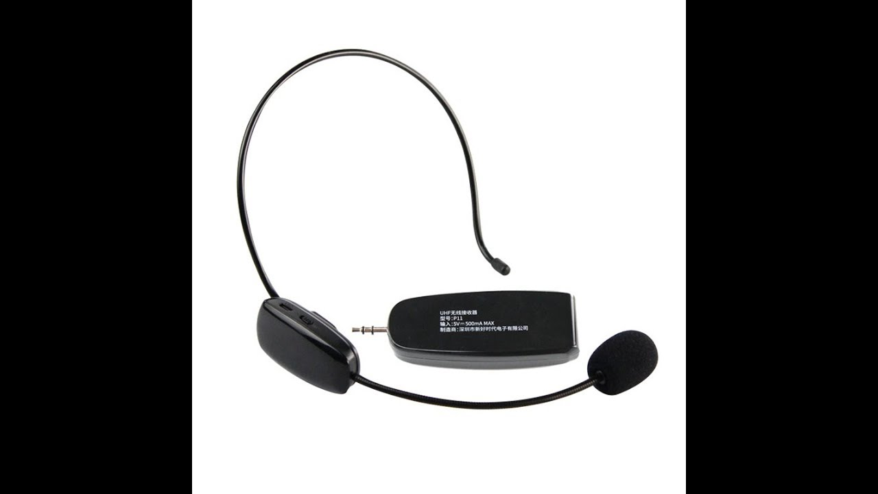8d704f97b26 NEWGOOD UHF wireless headset stereo microphone for voice amplifier,stage  speaker,multimedia device
