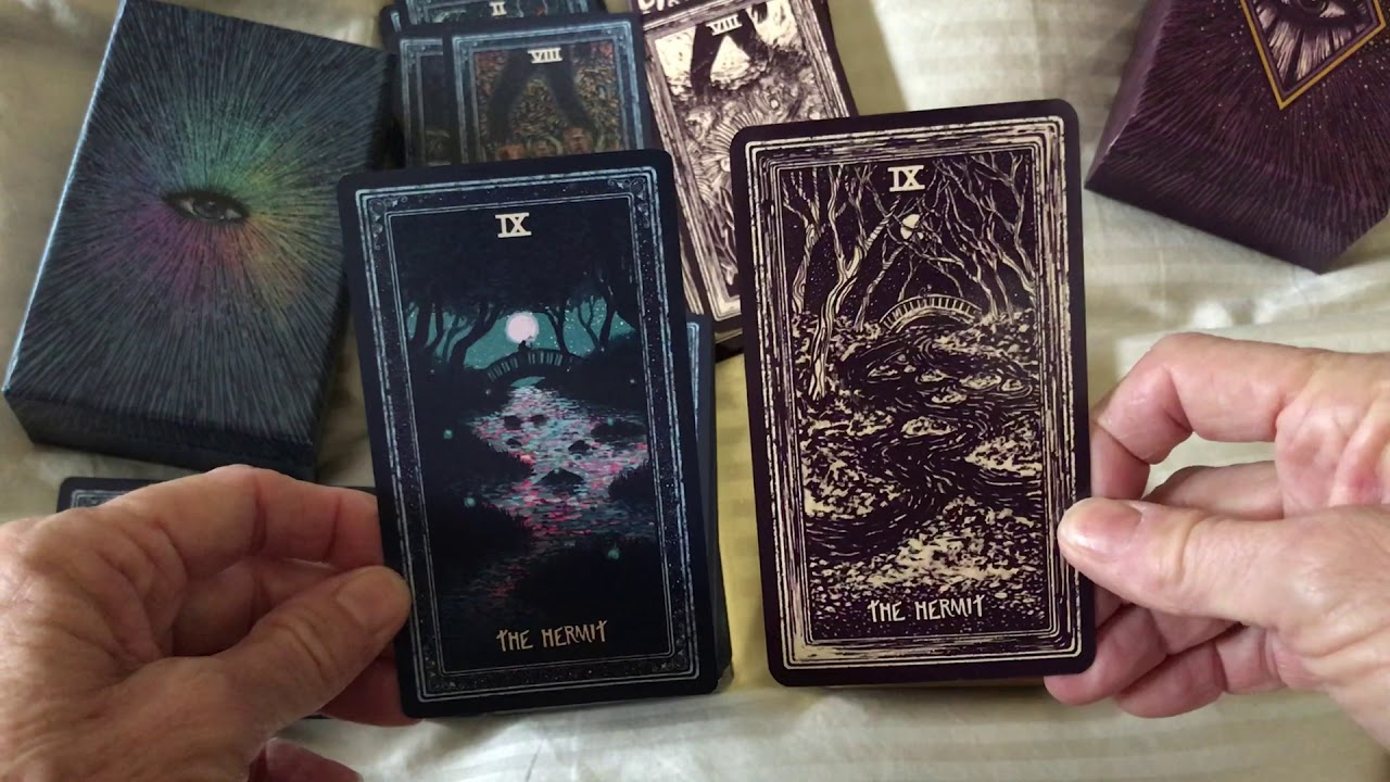 Light Visions Tarot and PrismaVisions Side by Side, Flip Through and my  first look!