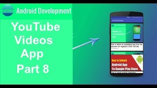 YouTube channel videos app  Play YouTube videos in your android app Part 8