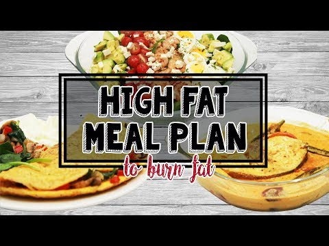 High FAT Meal Plan to Burn Fat (Breakfast, Lunch, Dinner Recipes)