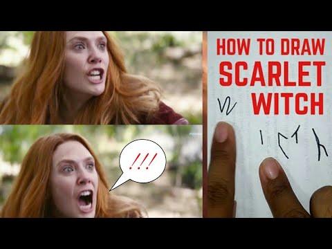 HOW TO DRAW SCARLET WITCH