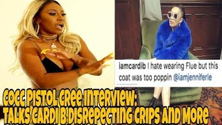 Crip Cocc Pistol Interview on Cardi B Crips Diss On Instagram, Working w/ Meek Mill and more