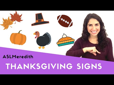 Learn ASL: Sign about Thanksgiving and Black Friday in American Sign Language