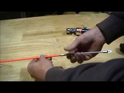 How To Replace A Fibreglass Cable Rodder Tip