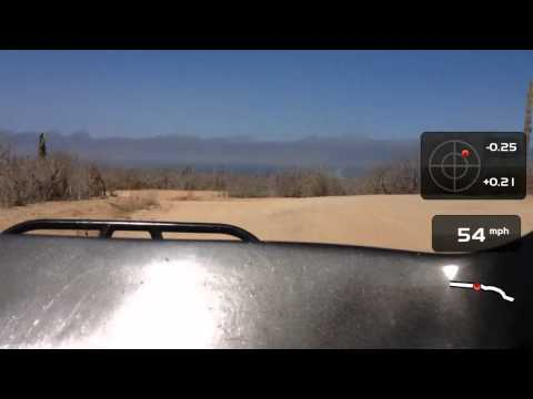 BAJA footage with speedometer, track and g force meter