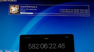 I downloaded GTA 5 on PS4 using Dial Up Internet (1000+ Hours)