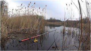 Весенняя рыбалка на реке с Поплавочной удочкой Рыбалка на поплавок с апреле 2020