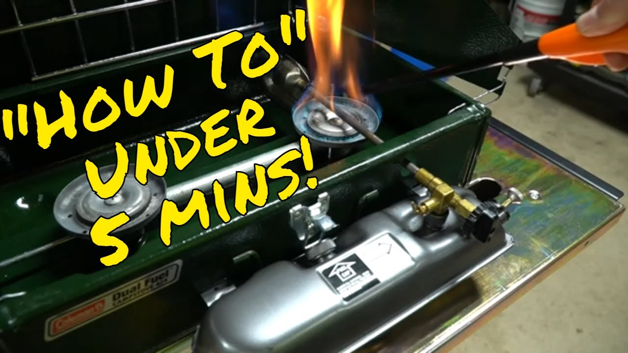 How to Light Your Coleman Two Burner Campstove!  Using Model 424